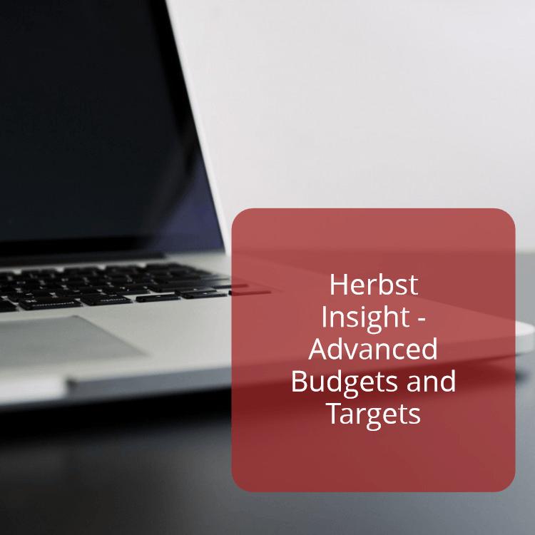 Advanced Budgets and Targets