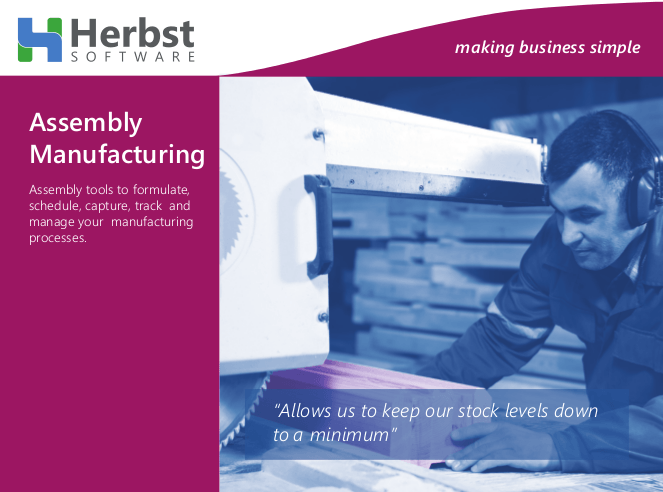 Herbst - Assembly & Manufacturing Tools Integrated with Your Accounts