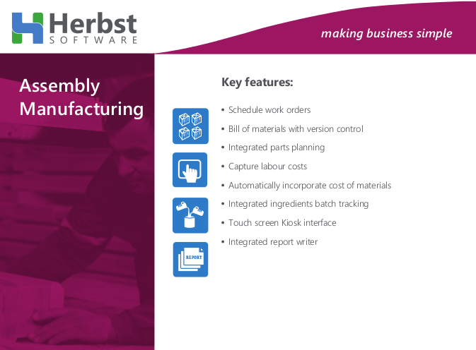 Herbst Business Assembly Manufacturing solutions