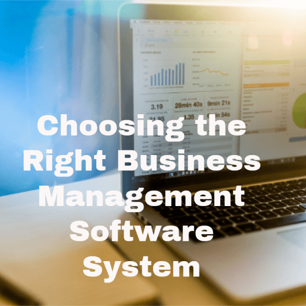 choosing the right business management software - erp system